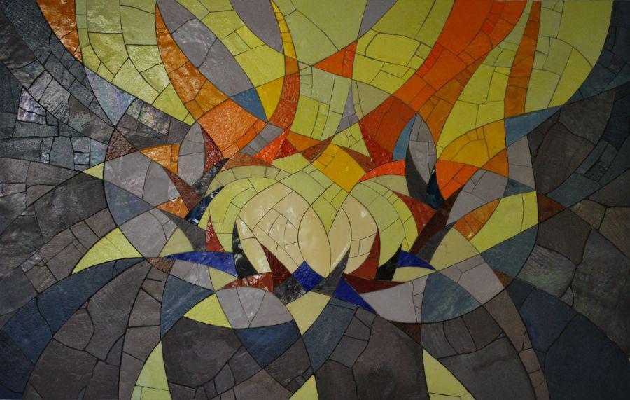 """Mosaik """"Freud und Leid"""" Bezzelheim Neuendettelsau"""