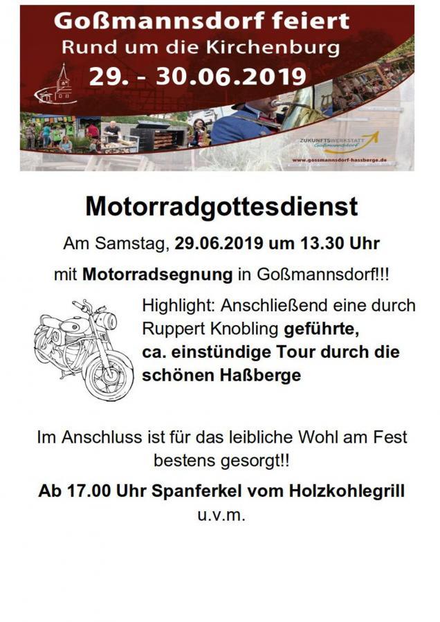 Festprogramm Motorrad