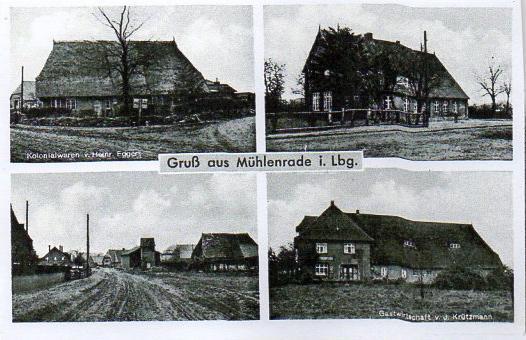 Mühlenrade um 1950