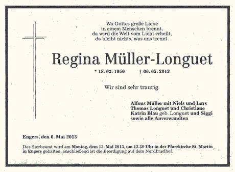 Todesanzeige Müller-Longuet