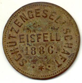 Schützengeld Eisfeld 1886