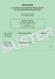 Musterstimmzettel Bürgermeisterwahl