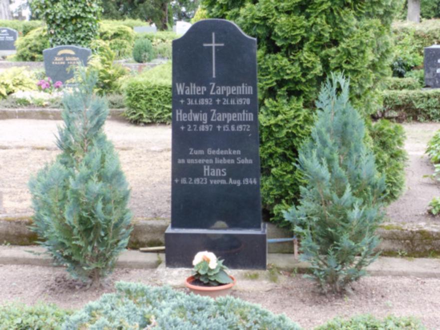 Zum Gedenken an Hans Zarpentin