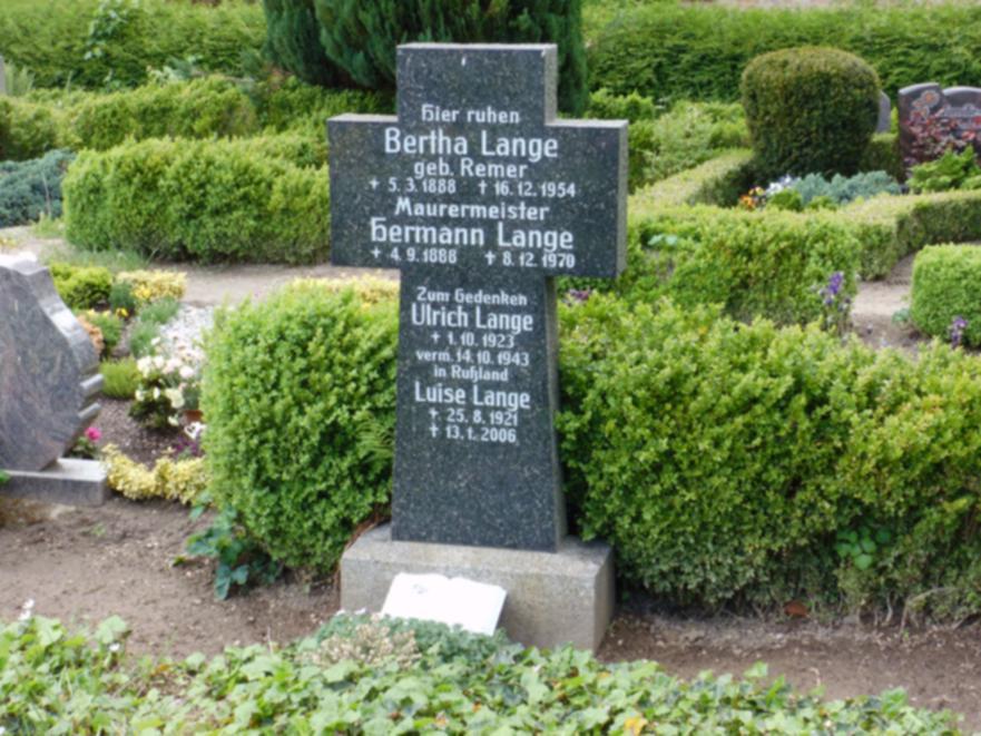 Zum Gedenken an Ulrich Lange