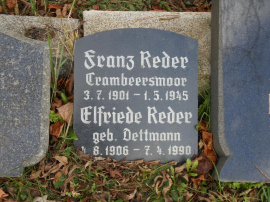 Grabstein Franz Reder