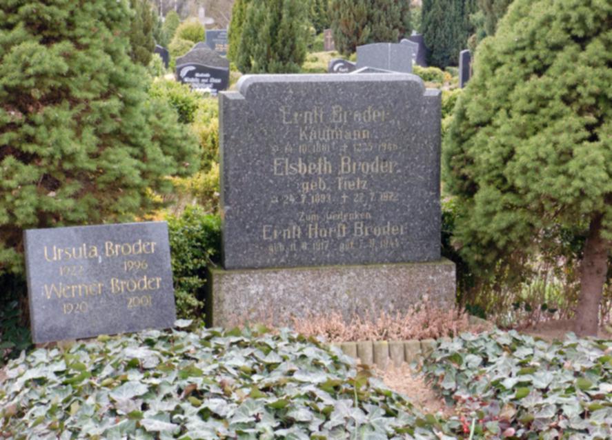 Zum Gedenken an Ernst-Horst Broder