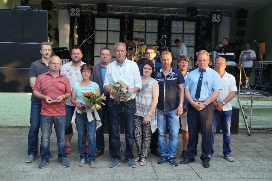 Zum Stadt- und Vereinsfest am 4.6.2016 wurden ausgezeichnet: Stefan Hempel, Angela Hempel und Willi Voß (von links)