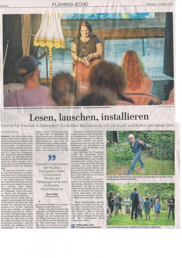 Märkische Allgemeine, 05.08.2019