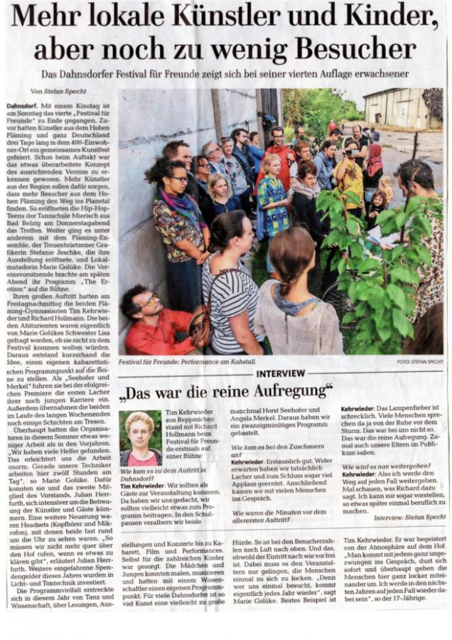 Märkische Allgemeine 08.08.2016