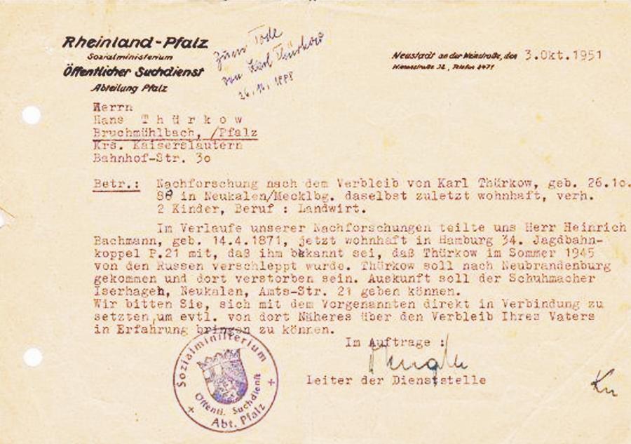 Nachforschung Carl Thürkow (1)
