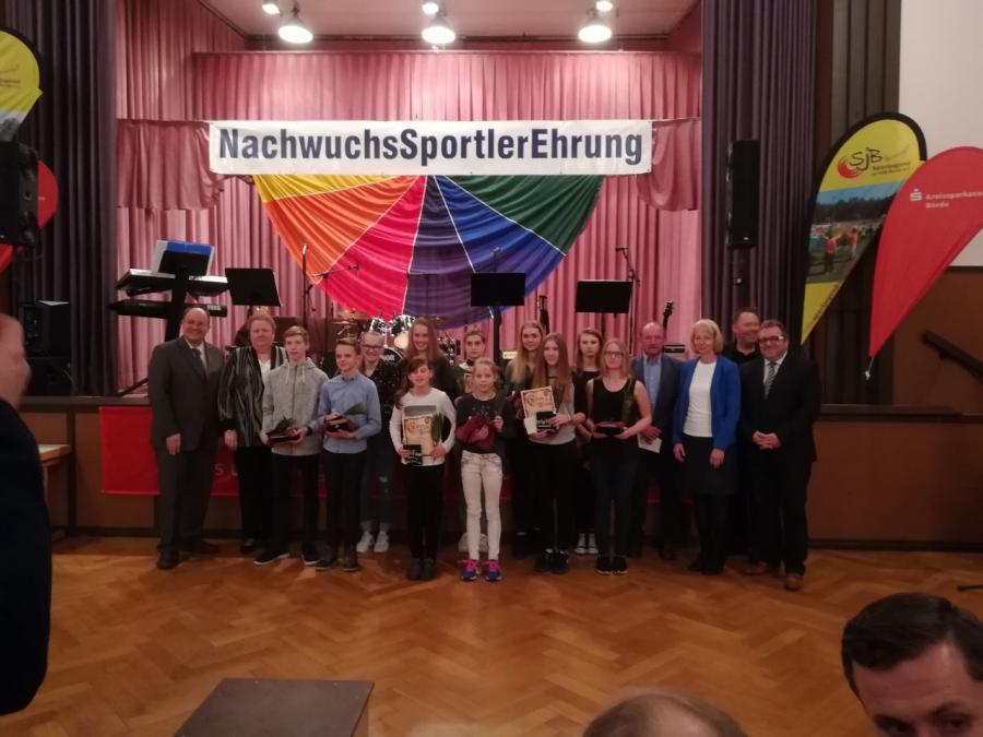 NachwuchsSportlerEhrung, LK Börde 26.01.2018