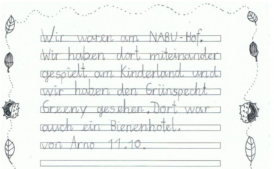 Bericht von Arno