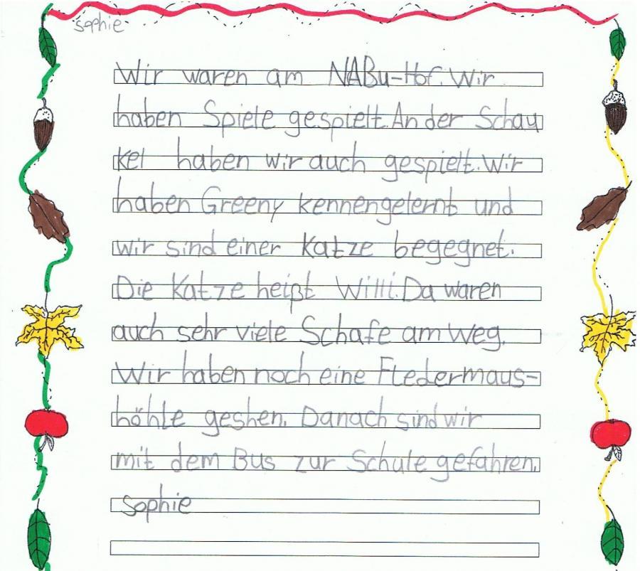 Bericht von Sophie