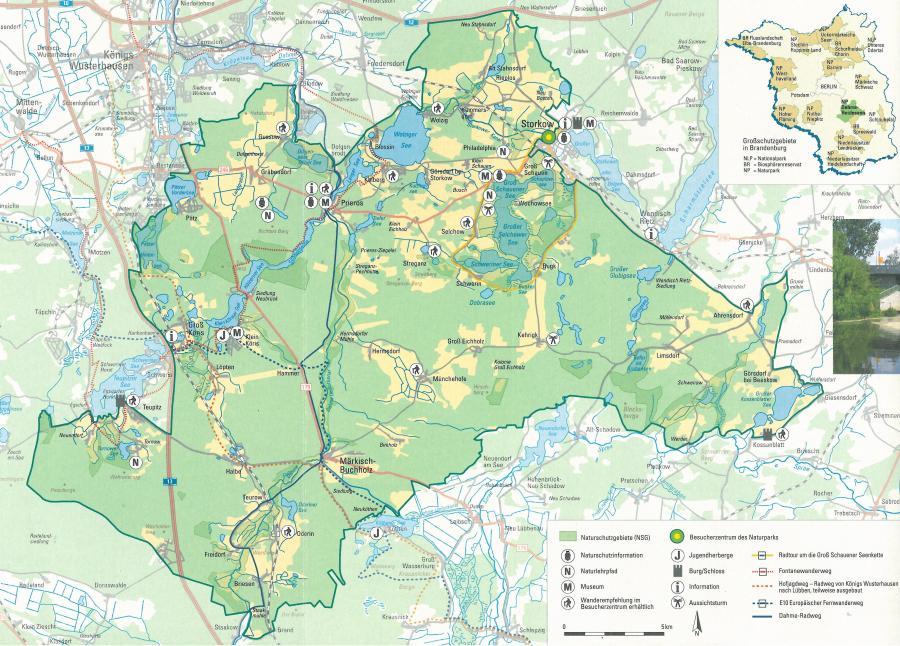 Karte Naturpark Dahme-Heideseen