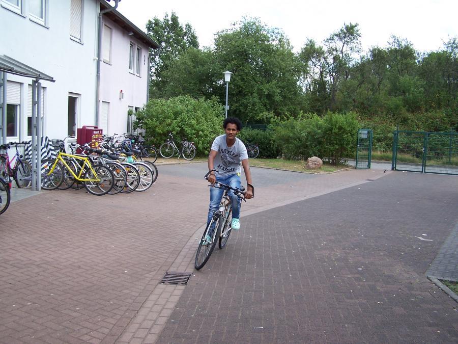 Fahrrad - wichtiges Verkehrsmittel für die Asylbewerber