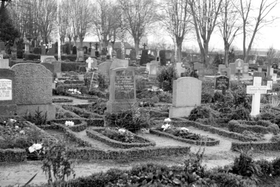 Friedhof Neukalen, um 1955 (3)