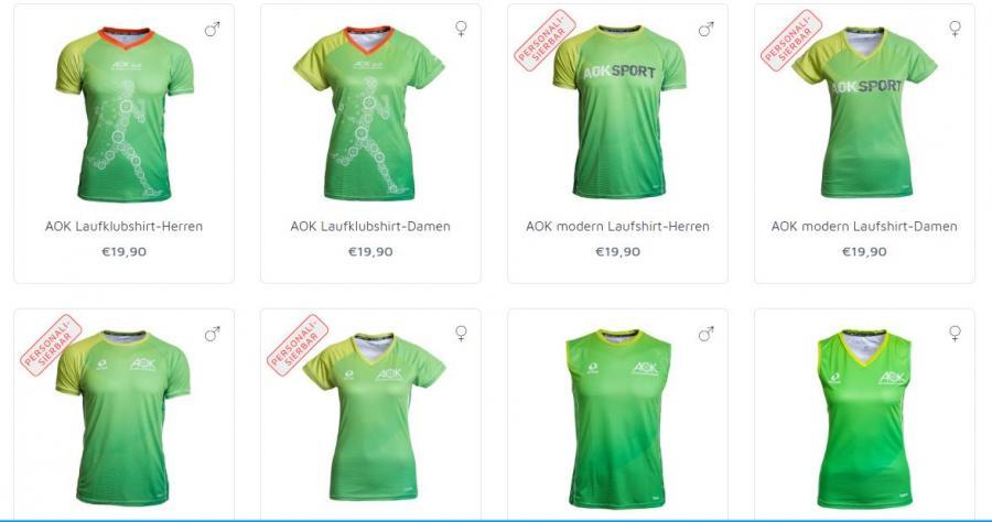 Neue AOK-Laufshirtkollektion 2019