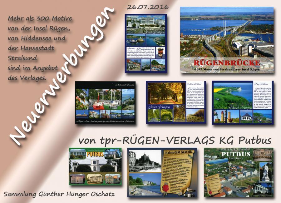 Neuerwerbungen tpr-Verlag Putbus