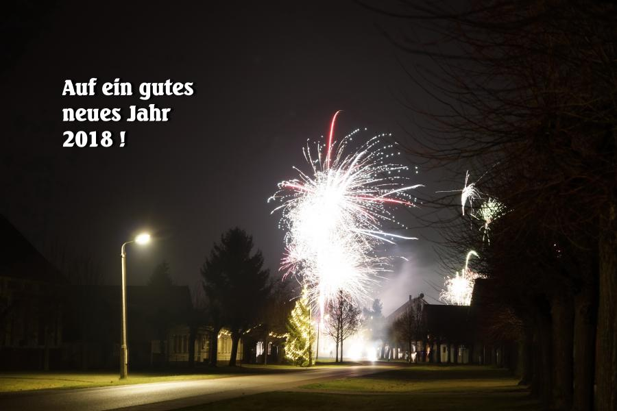 Neujahr auf der Sieversdorfer Dorfstraße
