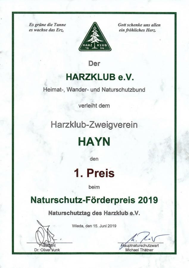Urkunde 2019