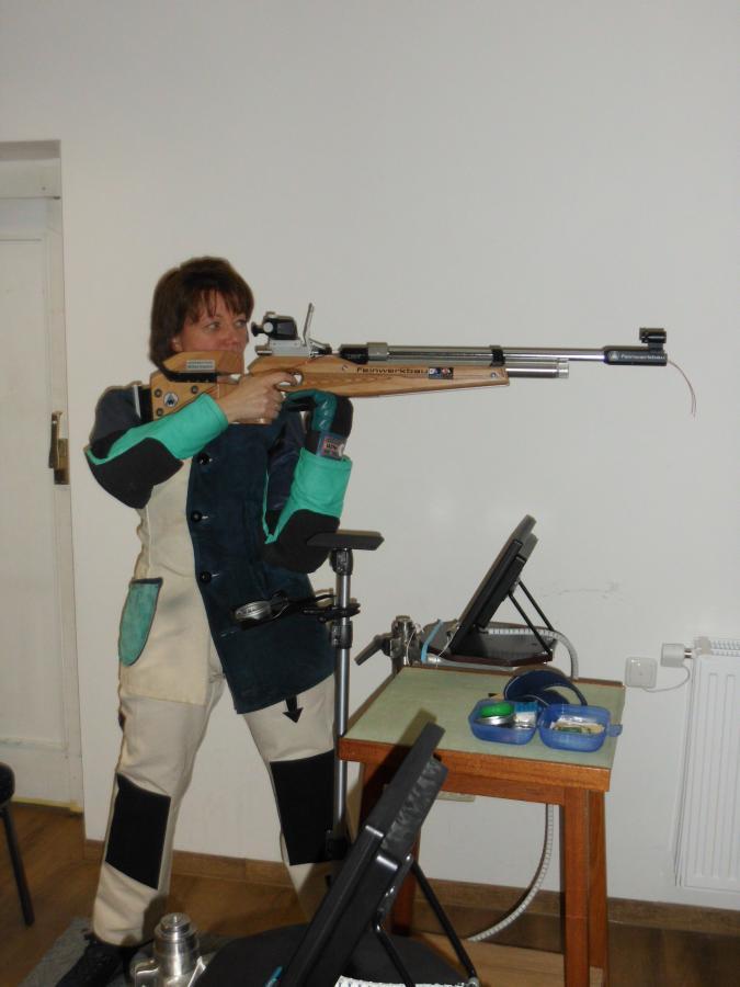 Nicole Matenia beim Training