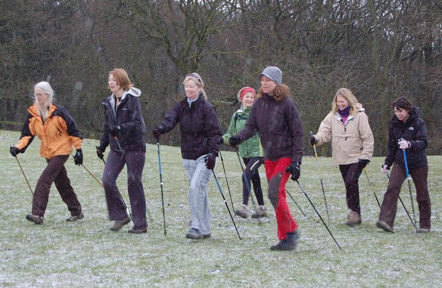 Nordic Walking Gruppe (Quelle: Malcolm Jarvis)