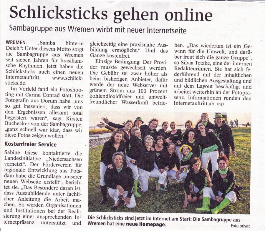 Nordsee-Zeitung Nov. 2016