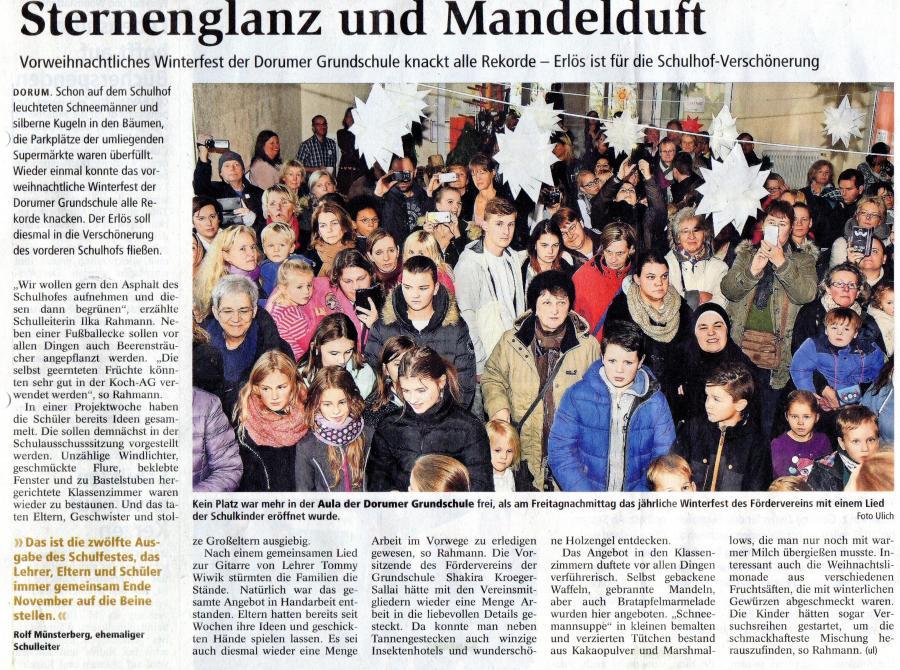 Nordseezeitung 19112016_Adventsbasar