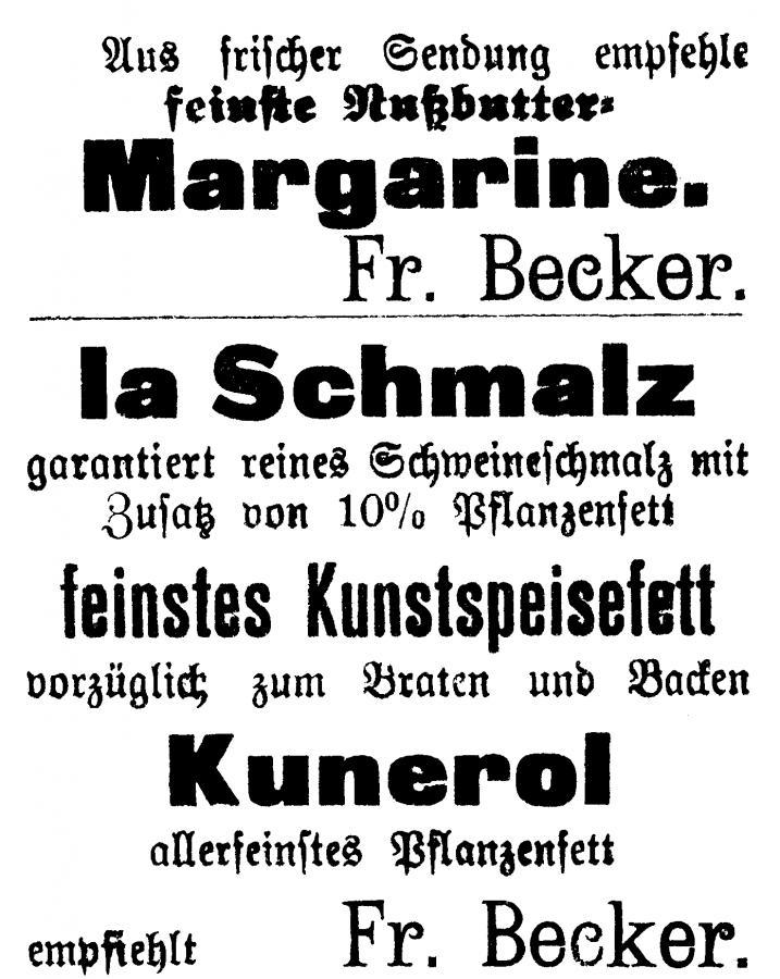 Annonce im Neukalener Tageblatt vom 16.9.1915