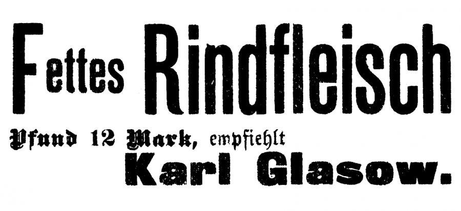 Annonce im Neukalener Tageblatt vom 2.2.1922