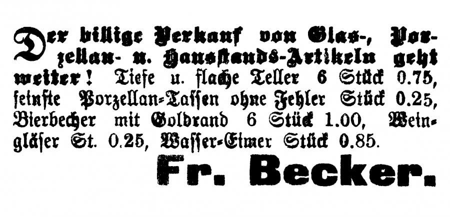Annonce im Neukalener Tageblatt vom 8.11.1933