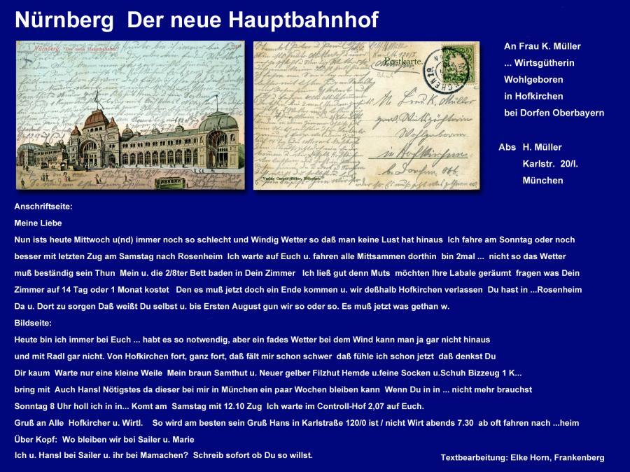 Nürnberg  Der neue Hauptbahnhof
