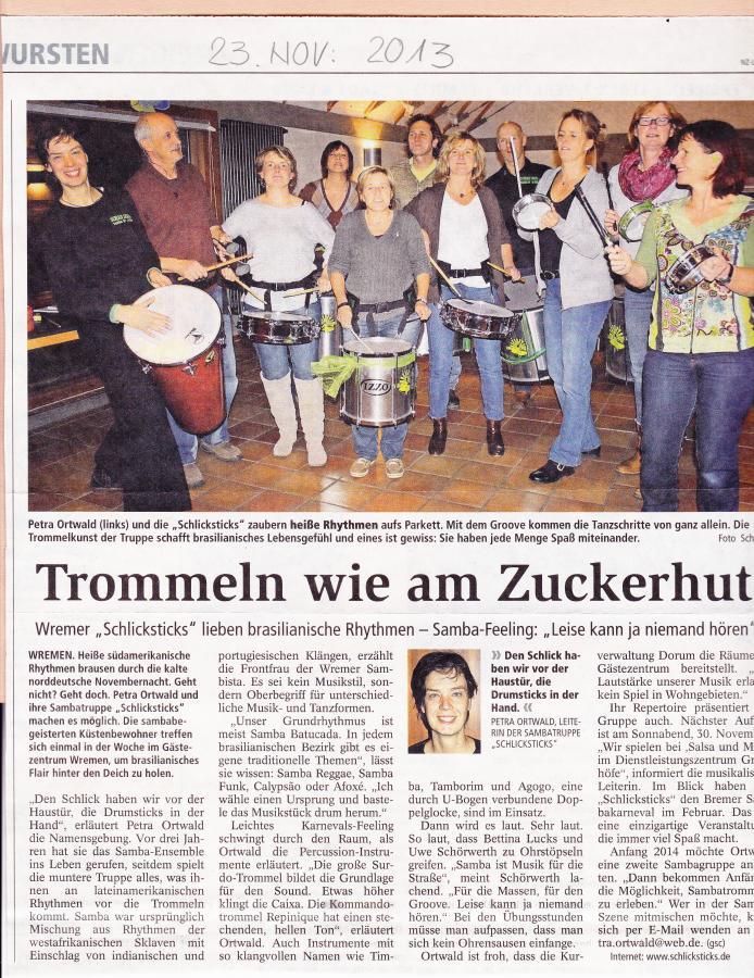 Nordsee-Zeitung Nov. 2013