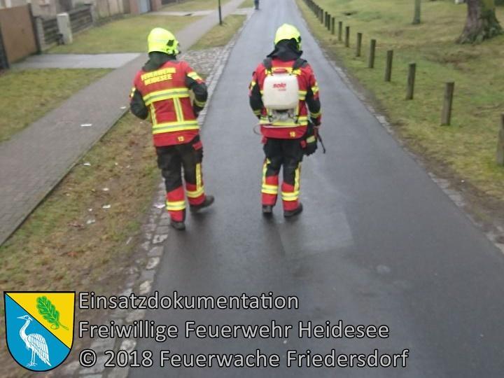 Einsatz 7/2017 | 300m lange Ölspur | Friedersdorf Hauptstraße | 26.01.2018