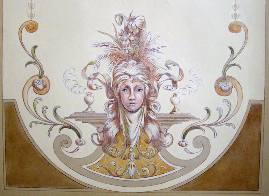 Deckenmalerei im Foyer - Allegorie des Sommers, um 1880