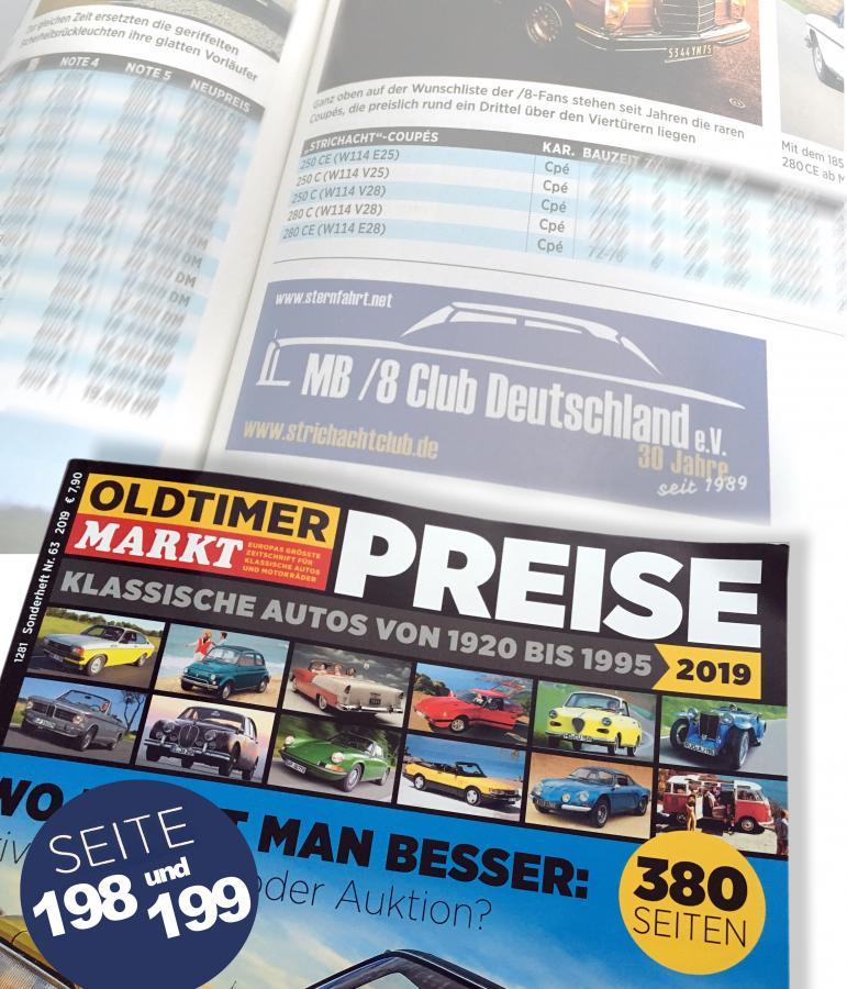 Oldtimer Markt Sonderheft Preise 2019