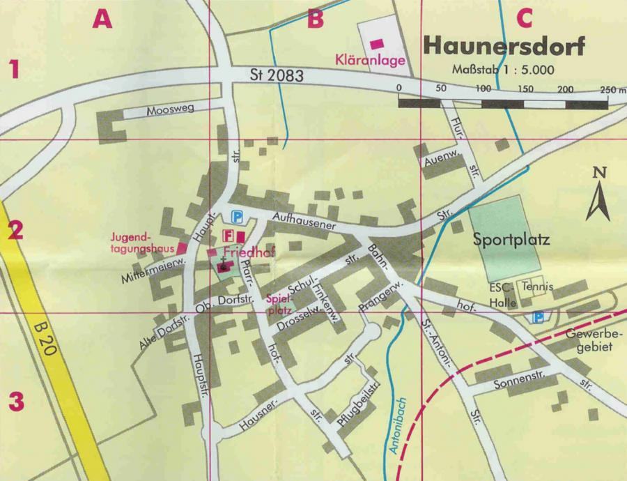 Ortsplan Haunersdorf