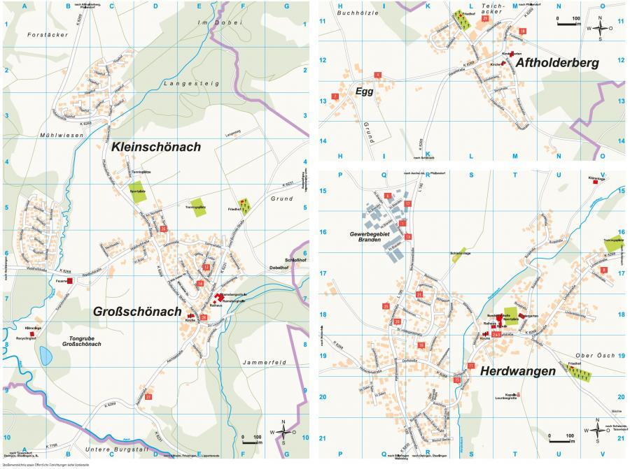 Ortsplan Herdwangen-Schönach Seite 2