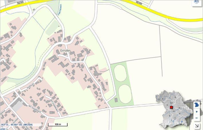 Ortsplan Enhofen