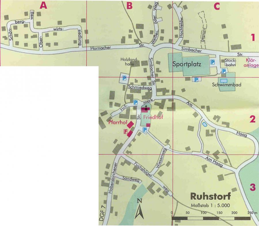 Ortsplan Ruhstorf