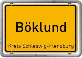Ortsschild Böklund