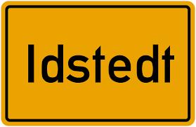 Ortsschild Idstedt