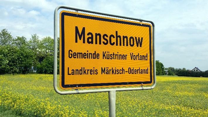 Anreise nach Manschnow über die Bundesstraße 112