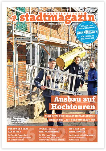 Titel Stadtmagazin April/Mai 2018
