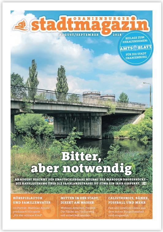 Das Stadtmagazin Aug.-Sep. 2018 online lesen ...