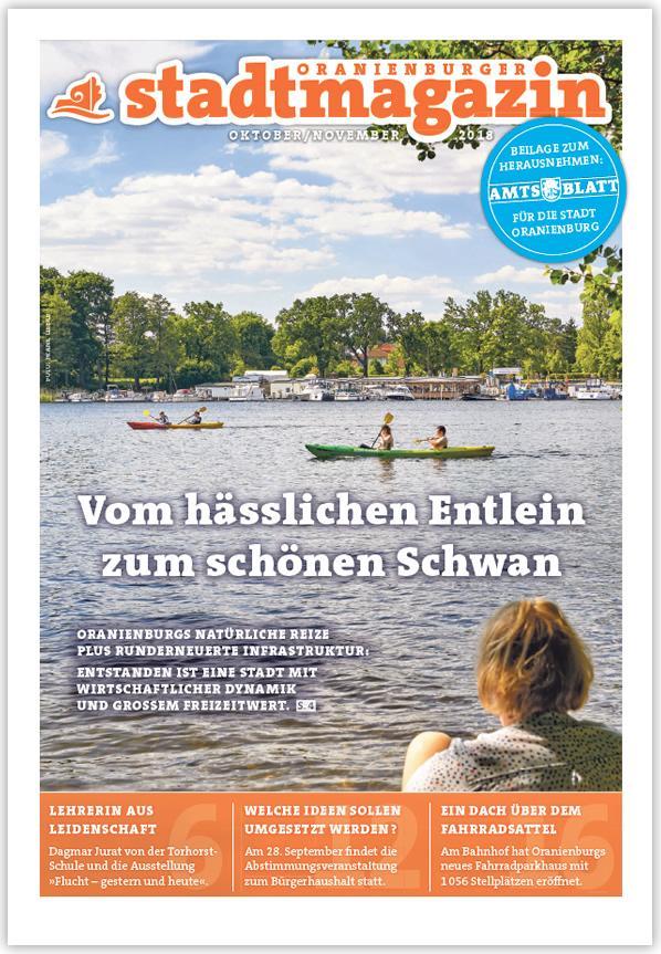 Oranienburger Stadtmagazin Oktober/November 2018 online lesen ...