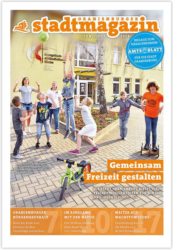 Stadtmagazin-Ausgabe Juni-Juli 2018