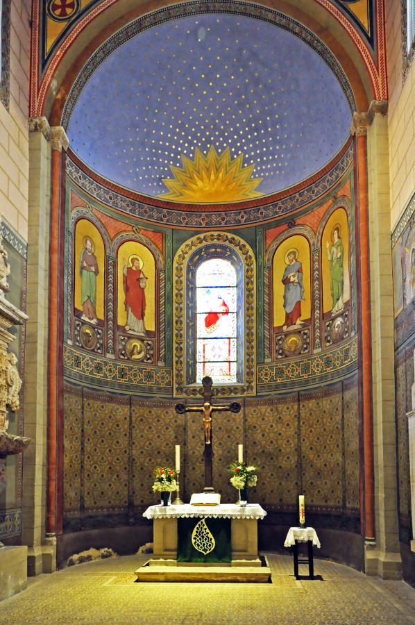 Hauptapsis, 4 Evangelisten, Sternenhimmel >Sächsischer Byzantinismus<