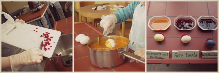 Osterferien Eier färben