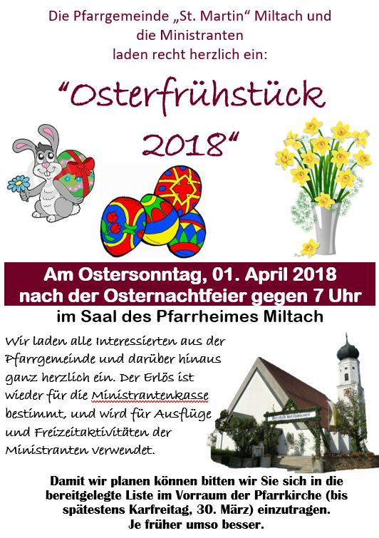 Osterfrühstück Miltach 2018